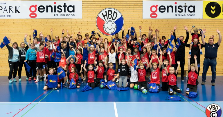 Power- an Handballcamp 2019 zesummen mam THW Kiel