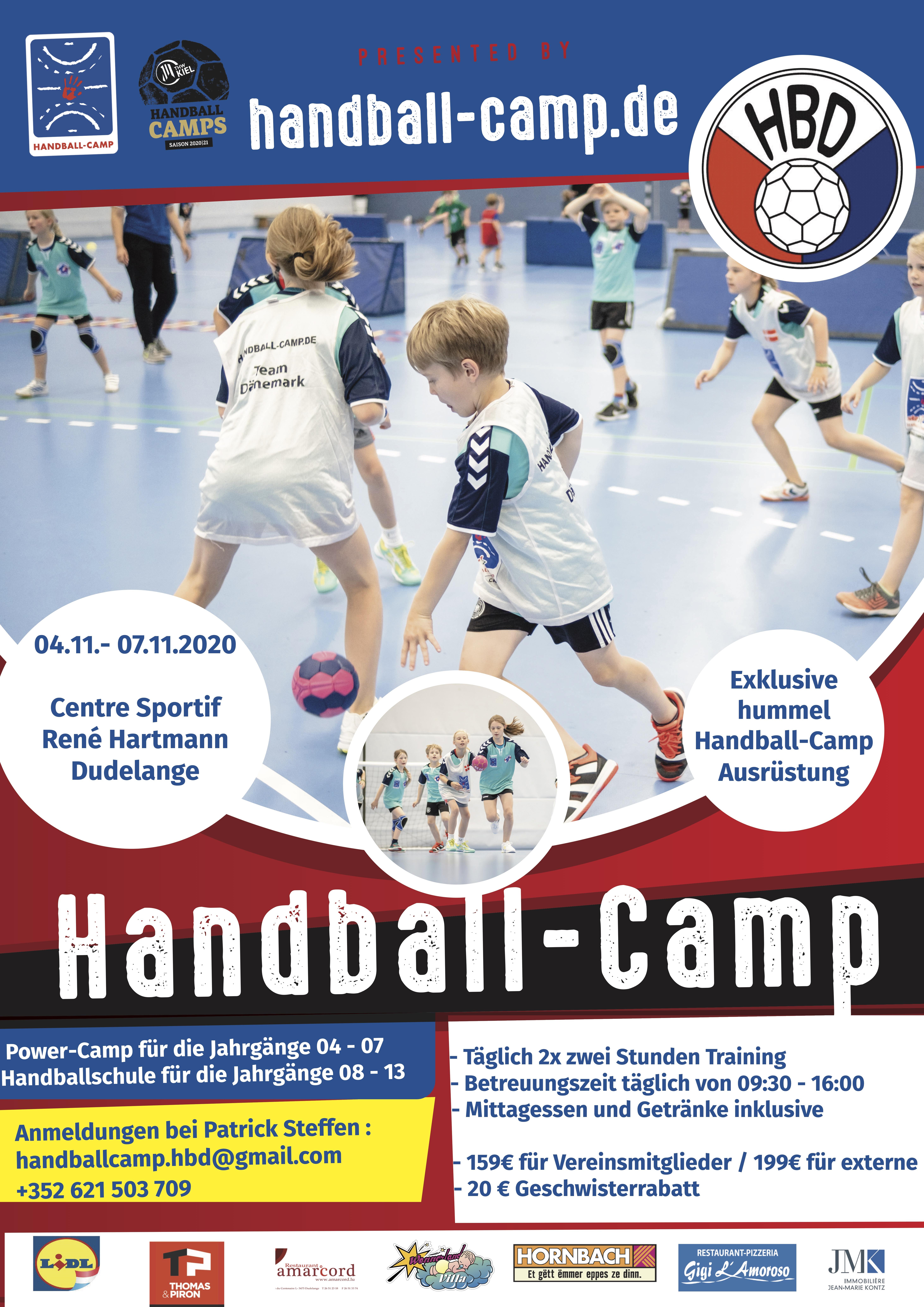 Power- an Handballcamp zesummen mam THW Kiel ! – ANNULEIERT